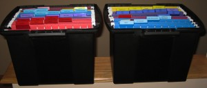 Organized files to keep everything within reach in case of an emergency