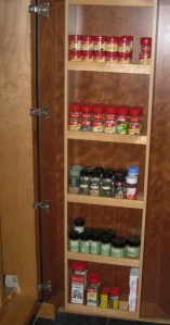 Organized spice cabinets by Perfectly Organized with Patti